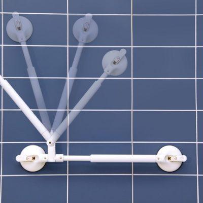 Winkelverstellbarer Handlauf mit Teleskop