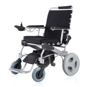 e-throne faltbarer Elektro-Rollstuhl mit 12″ Antriebsräder
