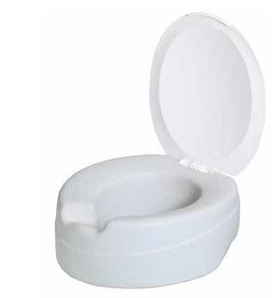 Toilettensitzerhöhung CONTACT PLUS mit Deckel, weich
