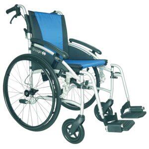 G-Logic Reise-Transport-Rollstuhl mit Trommelbremse